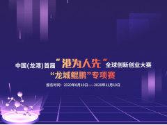 """中国(龙港)首届 """"港为人先""""全球创新创业大赛  """"龙城鲲鹏""""专项赛"""