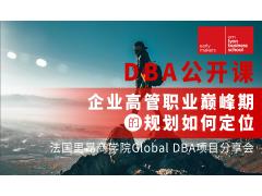 法国里昂商学院Global DBA公开课:企业高管职业巅峰期的规划如何定位?