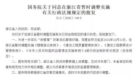 同意浙江取消药店筹建审批,药店筹建审批取消,国务院同意了。